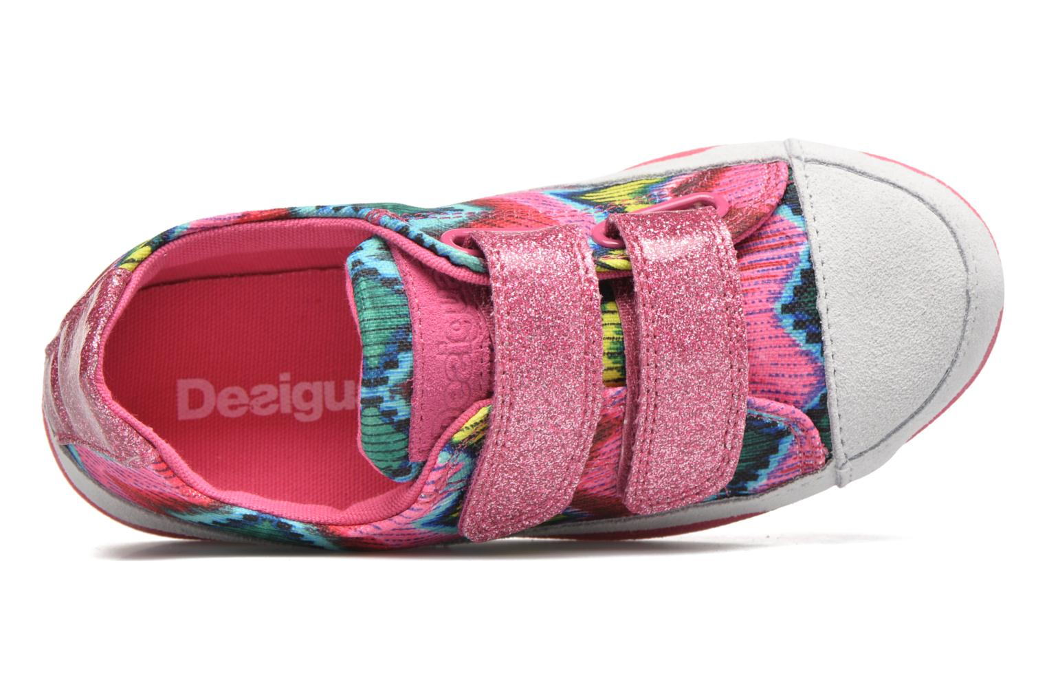 Chaussures à scratch Desigual SHOES_MINI HAPPY 2 Rose vue gauche